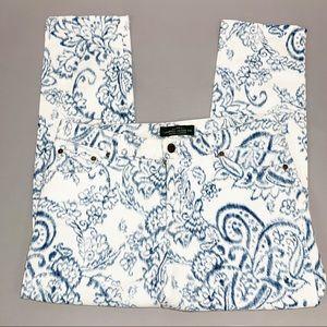 Ralph Lauren Cropped Straight Jean Ikat Print